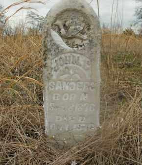 SANDERS, JOHN C. - Boone County, Arkansas | JOHN C. SANDERS - Arkansas Gravestone Photos