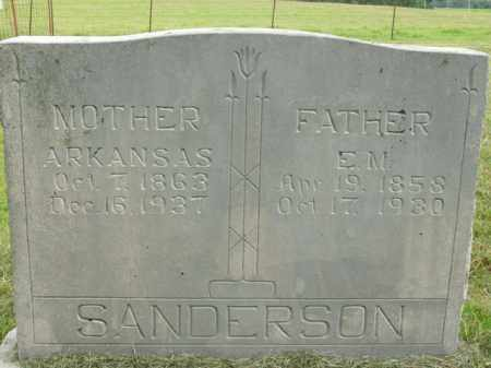 SANDERSON, E. M. - Boone County, Arkansas | E. M. SANDERSON - Arkansas Gravestone Photos