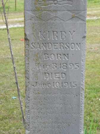 SANDERSON, KIRBY - Boone County, Arkansas | KIRBY SANDERSON - Arkansas Gravestone Photos
