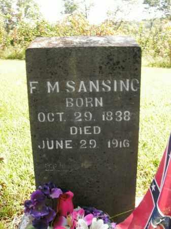 SANSING, F. M. - Boone County, Arkansas | F. M. SANSING - Arkansas Gravestone Photos