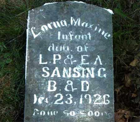 SANSING, LORNA MAXINE - Boone County, Arkansas | LORNA MAXINE SANSING - Arkansas Gravestone Photos