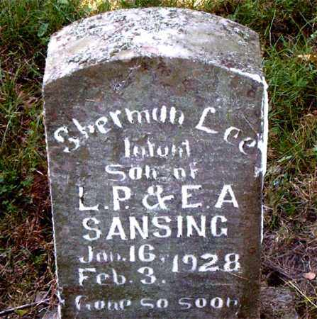 SANSING, SHERMAN LEE - Boone County, Arkansas | SHERMAN LEE SANSING - Arkansas Gravestone Photos