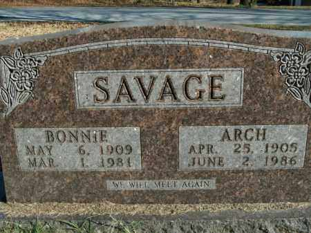 SAVAGE, ARCH - Boone County, Arkansas | ARCH SAVAGE - Arkansas Gravestone Photos