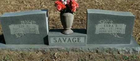SAVAGE, LURA ELIZABETH - Boone County, Arkansas | LURA ELIZABETH SAVAGE - Arkansas Gravestone Photos