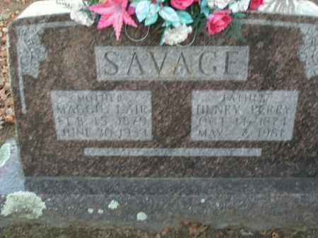 SAVAGE, HENRY  PERRY - Boone County, Arkansas | HENRY  PERRY SAVAGE - Arkansas Gravestone Photos