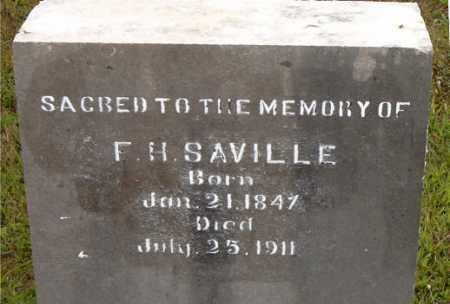 SAVILLE, F.  H. - Boone County, Arkansas | F.  H. SAVILLE - Arkansas Gravestone Photos