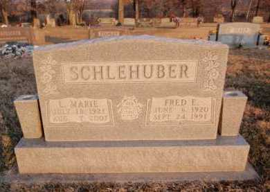 SCHLEHUBER, FRED  E. - Boone County, Arkansas | FRED  E. SCHLEHUBER - Arkansas Gravestone Photos