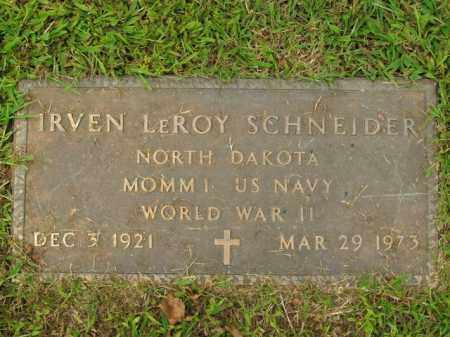 SCHNEIDER  (VETERAN WWII), IRVEN LEROY - Boone County, Arkansas | IRVEN LEROY SCHNEIDER  (VETERAN WWII) - Arkansas Gravestone Photos