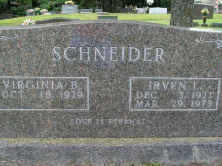 SCHNEIDER, IRVEN L. - Boone County, Arkansas | IRVEN L. SCHNEIDER - Arkansas Gravestone Photos