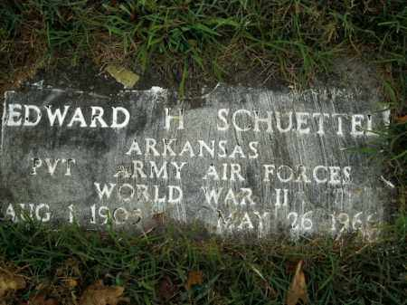 SCHUETTEL  (VETERAN WWII), EDWARD H - Boone County, Arkansas | EDWARD H SCHUETTEL  (VETERAN WWII) - Arkansas Gravestone Photos