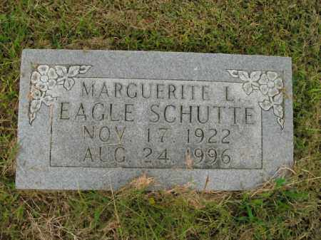 EAGLE SCHUTTE, MARGUERITE L. - Boone County, Arkansas | MARGUERITE L. EAGLE SCHUTTE - Arkansas Gravestone Photos