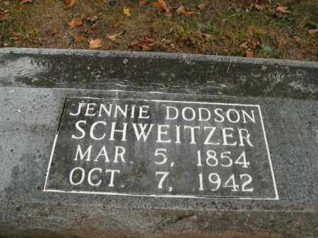 DODSON SCHWEITZER, JENNIE - Boone County, Arkansas | JENNIE DODSON SCHWEITZER - Arkansas Gravestone Photos