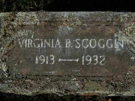 SCOGGIN, VIRGINIA B. - Boone County, Arkansas | VIRGINIA B. SCOGGIN - Arkansas Gravestone Photos