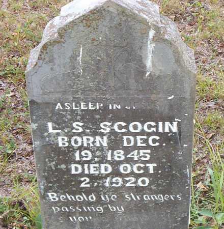 SCOGIN, L. S. - Boone County, Arkansas | L. S. SCOGIN - Arkansas Gravestone Photos
