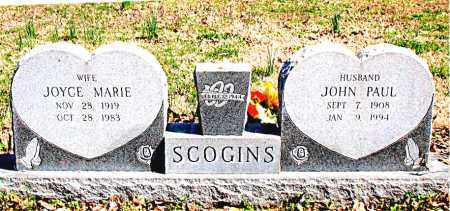 SCOGINS, JOHN PAUL - Boone County, Arkansas | JOHN PAUL SCOGINS - Arkansas Gravestone Photos