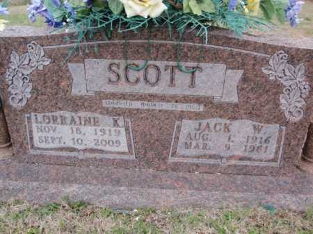 SCOTT, JACK W. - Boone County, Arkansas | JACK W. SCOTT - Arkansas Gravestone Photos