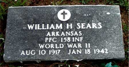SEARS  (VETERAN WWII), WILLIAM H - Boone County, Arkansas | WILLIAM H SEARS  (VETERAN WWII) - Arkansas Gravestone Photos