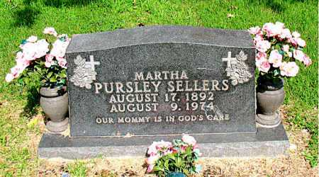 PURSLEY SELLERS, MARTHA - Boone County, Arkansas | MARTHA PURSLEY SELLERS - Arkansas Gravestone Photos