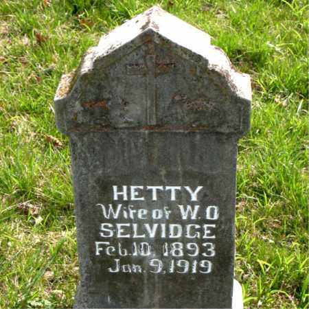 SELVIDGE, HETTY - Boone County, Arkansas | HETTY SELVIDGE - Arkansas Gravestone Photos