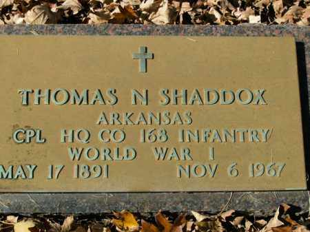 SHADDOX  (VETERAN WWI), THOMAS N - Boone County, Arkansas | THOMAS N SHADDOX  (VETERAN WWI) - Arkansas Gravestone Photos