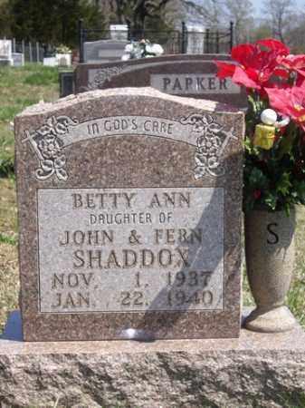 SHADDOX, BETTY ANN - Boone County, Arkansas   BETTY ANN SHADDOX - Arkansas Gravestone Photos