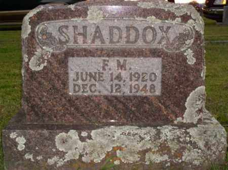 SHADDOX, F.M. - Boone County, Arkansas | F.M. SHADDOX - Arkansas Gravestone Photos