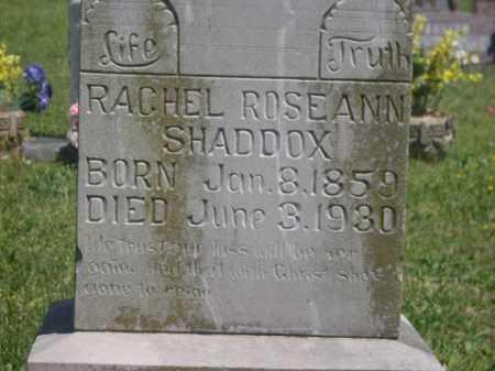 SHADDOX, RACHEL ROSEANN - Boone County, Arkansas   RACHEL ROSEANN SHADDOX - Arkansas Gravestone Photos