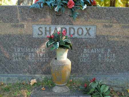SHADDOX, TRUMAN C. - Boone County, Arkansas | TRUMAN C. SHADDOX - Arkansas Gravestone Photos