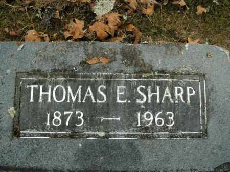 SHARP, THOMAS E. - Boone County, Arkansas | THOMAS E. SHARP - Arkansas Gravestone Photos