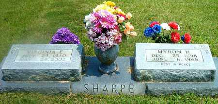 SHARPE, VIRGINIA  E. - Boone County, Arkansas | VIRGINIA  E. SHARPE - Arkansas Gravestone Photos