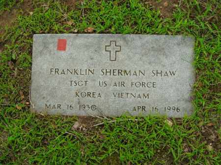 SHAW  (VETERAN 2 WARS), FRANKLIN SHERMAN - Boone County, Arkansas | FRANKLIN SHERMAN SHAW  (VETERAN 2 WARS) - Arkansas Gravestone Photos