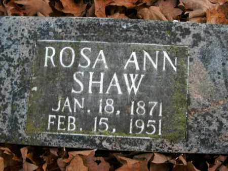 SHAW, ROSA ANN - Boone County, Arkansas | ROSA ANN SHAW - Arkansas Gravestone Photos