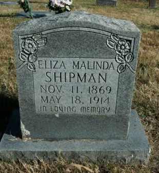 SHIPMAN, ELIZA MALINDA - Boone County, Arkansas | ELIZA MALINDA SHIPMAN - Arkansas Gravestone Photos