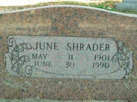 SHRADER, JUNE PEARL - Boone County, Arkansas | JUNE PEARL SHRADER - Arkansas Gravestone Photos