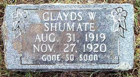 SHUMATE, GLADYS  W. - Boone County, Arkansas | GLADYS  W. SHUMATE - Arkansas Gravestone Photos