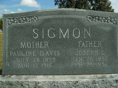 DAVIS SIGMON, PAULINE - Boone County, Arkansas | PAULINE DAVIS SIGMON - Arkansas Gravestone Photos