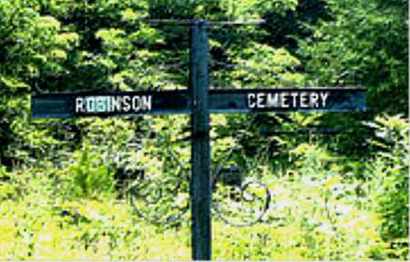 *ROBINSON CEMETERY SIGN,  - Boone County, Arkansas |  *ROBINSON CEMETERY SIGN - Arkansas Gravestone Photos