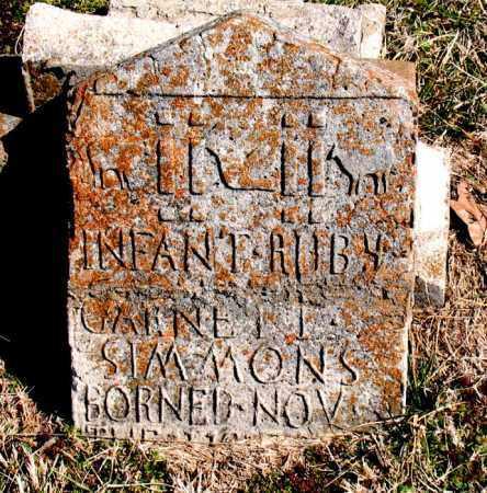 SIMMONS, RUBY GARNETT - Boone County, Arkansas   RUBY GARNETT SIMMONS - Arkansas Gravestone Photos