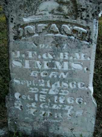 SIMMS, INFANT SON - Boone County, Arkansas | INFANT SON SIMMS - Arkansas Gravestone Photos
