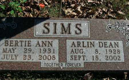 SIMS, ARLIN DEAN - Boone County, Arkansas | ARLIN DEAN SIMS - Arkansas Gravestone Photos