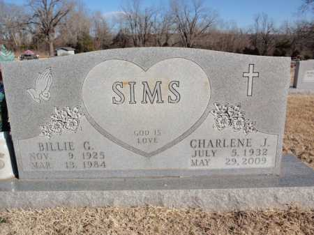 SIMS, BILLIE G - Boone County, Arkansas | BILLIE G SIMS - Arkansas Gravestone Photos