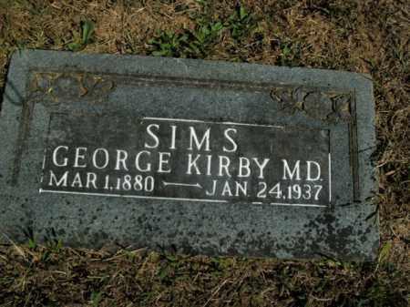 SIMS, GEORGE KIRBY - Boone County, Arkansas | GEORGE KIRBY SIMS - Arkansas Gravestone Photos