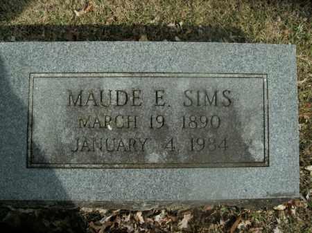 SIMS, MAUDE E. - Boone County, Arkansas | MAUDE E. SIMS - Arkansas Gravestone Photos