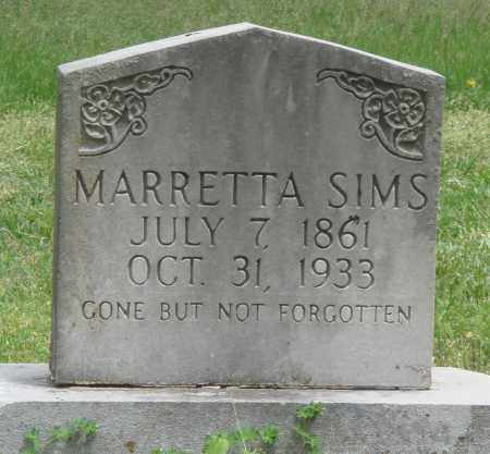 SIMS, MARRETTA - Boone County, Arkansas | MARRETTA SIMS - Arkansas Gravestone Photos