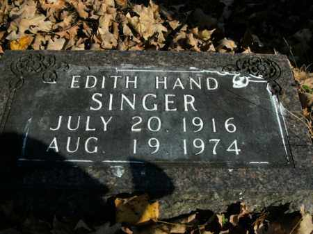 HAND SINGER, EDITH - Boone County, Arkansas | EDITH HAND SINGER - Arkansas Gravestone Photos