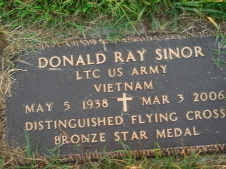 SINOR  (VETERAN VIET), DONALD RAY - Boone County, Arkansas | DONALD RAY SINOR  (VETERAN VIET) - Arkansas Gravestone Photos