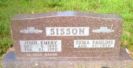 SISSON, JOHN EMERY - Boone County, Arkansas | JOHN EMERY SISSON - Arkansas Gravestone Photos
