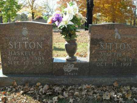 SITTON, HASKELL E. - Boone County, Arkansas | HASKELL E. SITTON - Arkansas Gravestone Photos