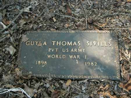 SIVILLS  (VETERAN WWI), GUYLA THOMAS - Boone County, Arkansas | GUYLA THOMAS SIVILLS  (VETERAN WWI) - Arkansas Gravestone Photos