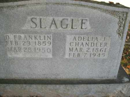 CHANDLER SLAGLE, ADELIA J. - Boone County, Arkansas | ADELIA J. CHANDLER SLAGLE - Arkansas Gravestone Photos